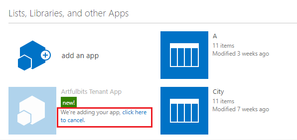 Tenant App Online - v1.0 sharepoint tutorial, photo 7