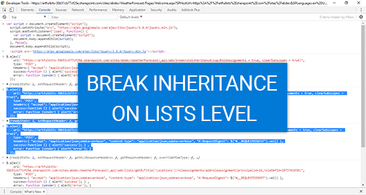 Breaking role inheritance between Host Web and App Web, image 5