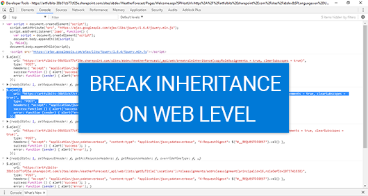 Breaking role inheritance between Host Web and App Web, image 4