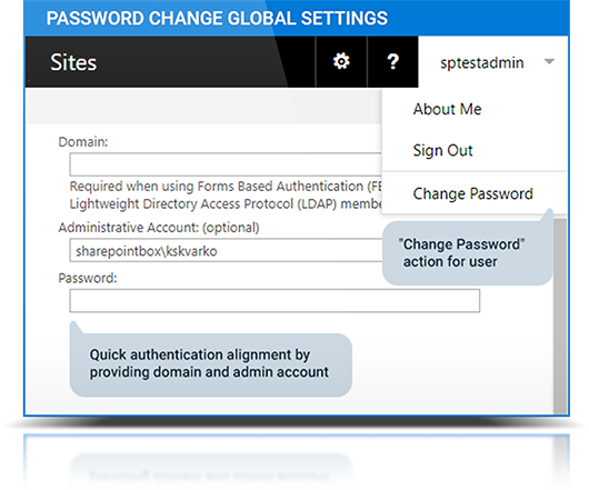 Password Change Web Part | SharePoint On Premises